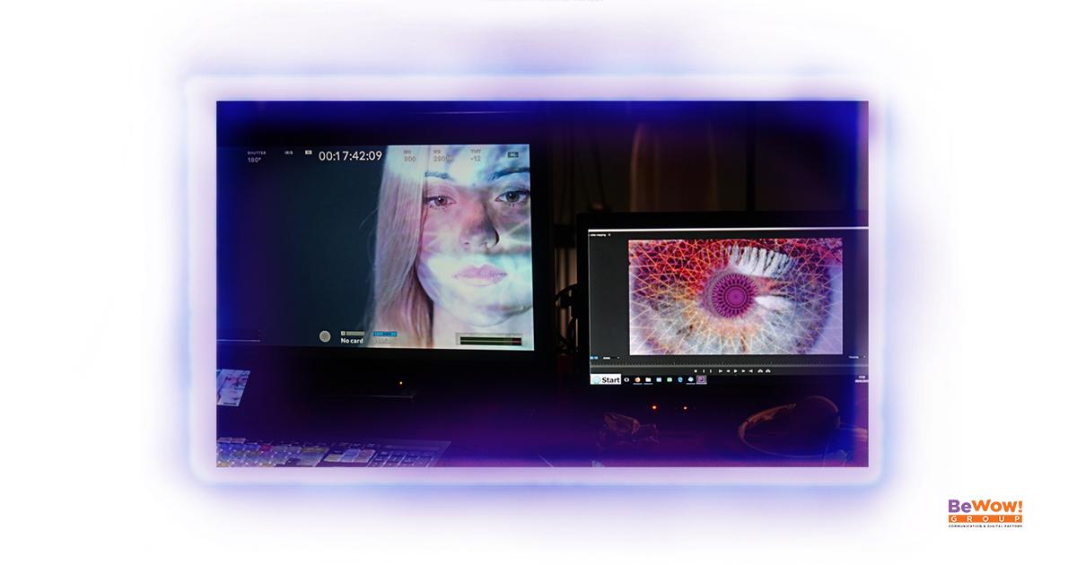 Video mapping riprese Thea Crudi
